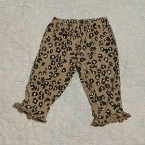 Girls 9 month cheetah leggings